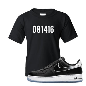 Colin Kaepernick X Air Force 1 Low 081416 Black Sneaker Hook Up Kid's T-Shirt