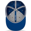 the under brim of the 2018 on field indianapolis colts snapback hat is blue