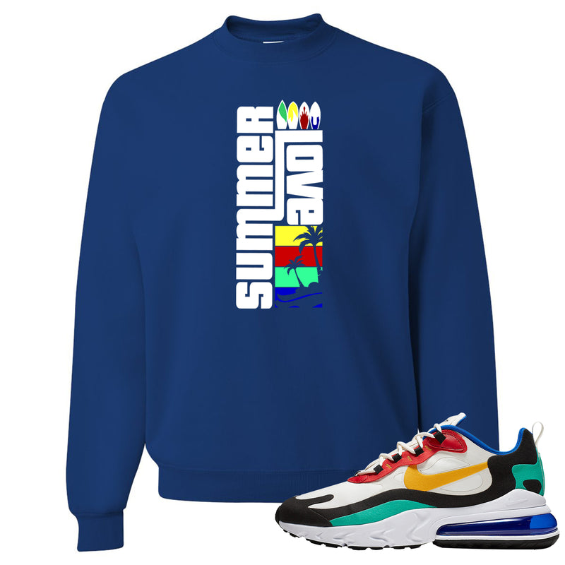 Nike Air Max 270 React Bauhaus Sneaker Hook Up Summer Love Royal Blue Sweater