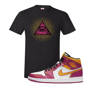 Air Jordan 1 Mid Familia T Shirt | All Seeing Eye, Black