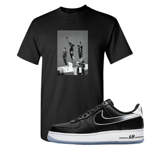 Colin Kaepernick X Air Force 1 Low Kaepernick Fist Black Sneaker Hook Up T-Shirt