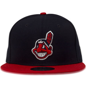 Cleveland Indians Classic Navy Blue / Red Chief Wahoo 9Fifty Snapback Hat
