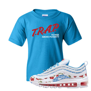 Air Max 97 GS SE Cherry Kids T-Shirt | Trap to Rise Above Poverty, Sapphire