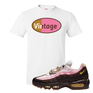 Air Max 95 Cuban Links T Shirt | White, Vintage Oval