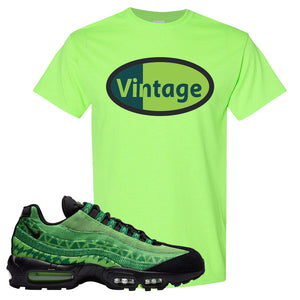 Air Max 95 Naija T Shirt | Vintage Oval, Neon Green