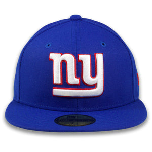 New York Giants Grey Bottom Royal Blue Fitted With NY Lettering Logo 5950 Fitted Hat