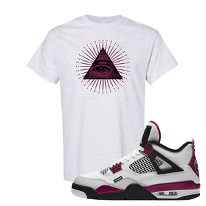 Air Jordan 4 PSG Paname T-Shirt | All Seeing Eye, Ash