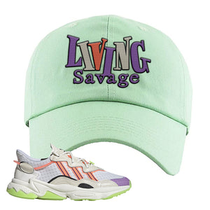 Ozweego Chaos Dad Hat | Sage Green, Living Savage