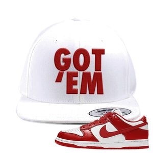 SB Dunk Low St. Johns Snapback Hat | Got Em, White