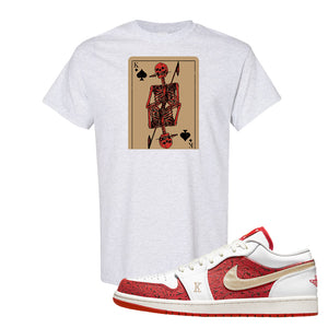 Air Jordan 1 Low Spades T Shirt | Bone Cards, Ash