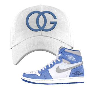 Air Jordan 1 High Hyper Royal Dad Hat | OG, White
