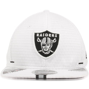 Oakland Raiders 2019 Training Camp White 9Fifty Snapback Hat