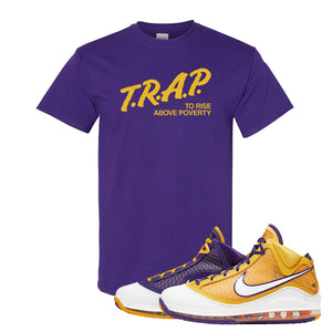 Lebron 7 'Media Day' T Shirt | Purple, Trap To Rise Above Poverty