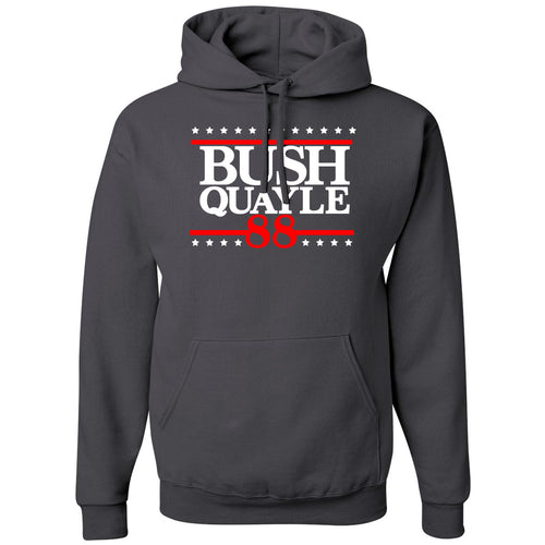 Standard Issue Bush Quayle 88' Gray Pullover Grunt Life Hoodie
