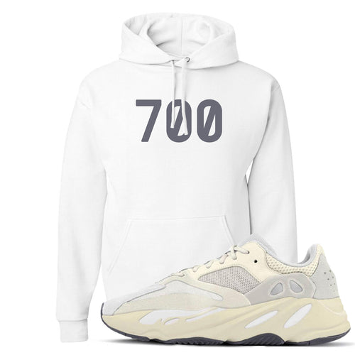 "Yeezy Boost 700 Analog Sneaker Match ""700"" White Hoodie"