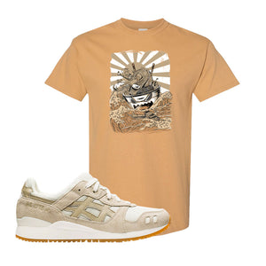 GEL-Lyte III 'Monozukuri Pack' T Shirt | Old Gold, Ramen Monster