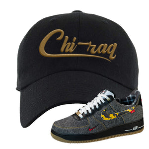 Air Force 1 Low Plaid And Camo Remix Pack Dad Hat | Chiraq, Black