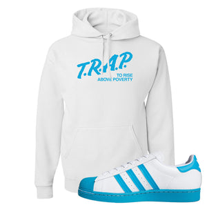 Adidas Superstar 'Aqua Toe' Hoodie | White, Trap To Rise Above Poverty