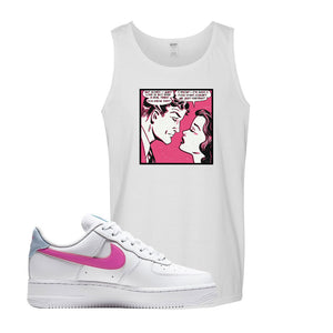 Air Force 1 Low Fire Pink Tank Top | White, Fake Love Comic