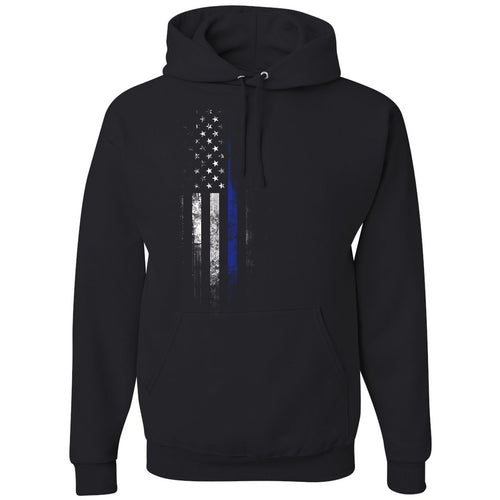 Standard Issue Blue Lives Matter Distressed Black Grunt Life Hoodie