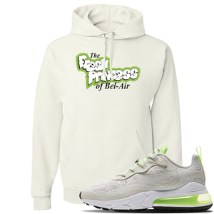 Air Max 270 React Ghost Green Sneaker White Pullover Hoodie | Hoodie to match Nike Air Max 270 React Ghost Green Shoes | Fresh Prince Of Bel Air