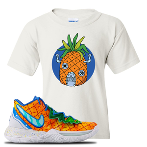 Kyrie 5 Pineapple House Kid's T-Shirt | White, Pineapple House