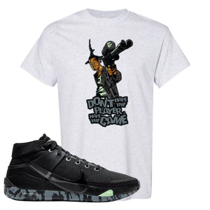 Nike KD 13 Black And Dark Grey T-Shirt | Dont Hate The Playa, Ash