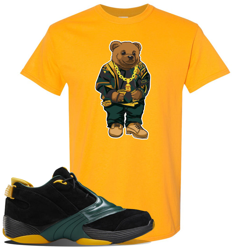 Answer 5 Bethel High Sneaker Gold T Shirt | Tees to match Reebok Answer 5 Bethel High Shoes | Sweater Bear