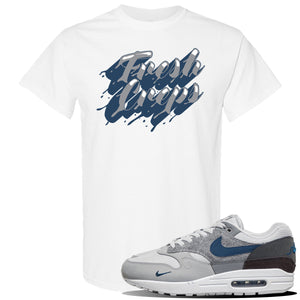 Air Max 1 'London City Pack' Sneaker White T Shirt | Tees to match Nike Air Max 1 'London City Pack' Shoes | Fresh Creps Only