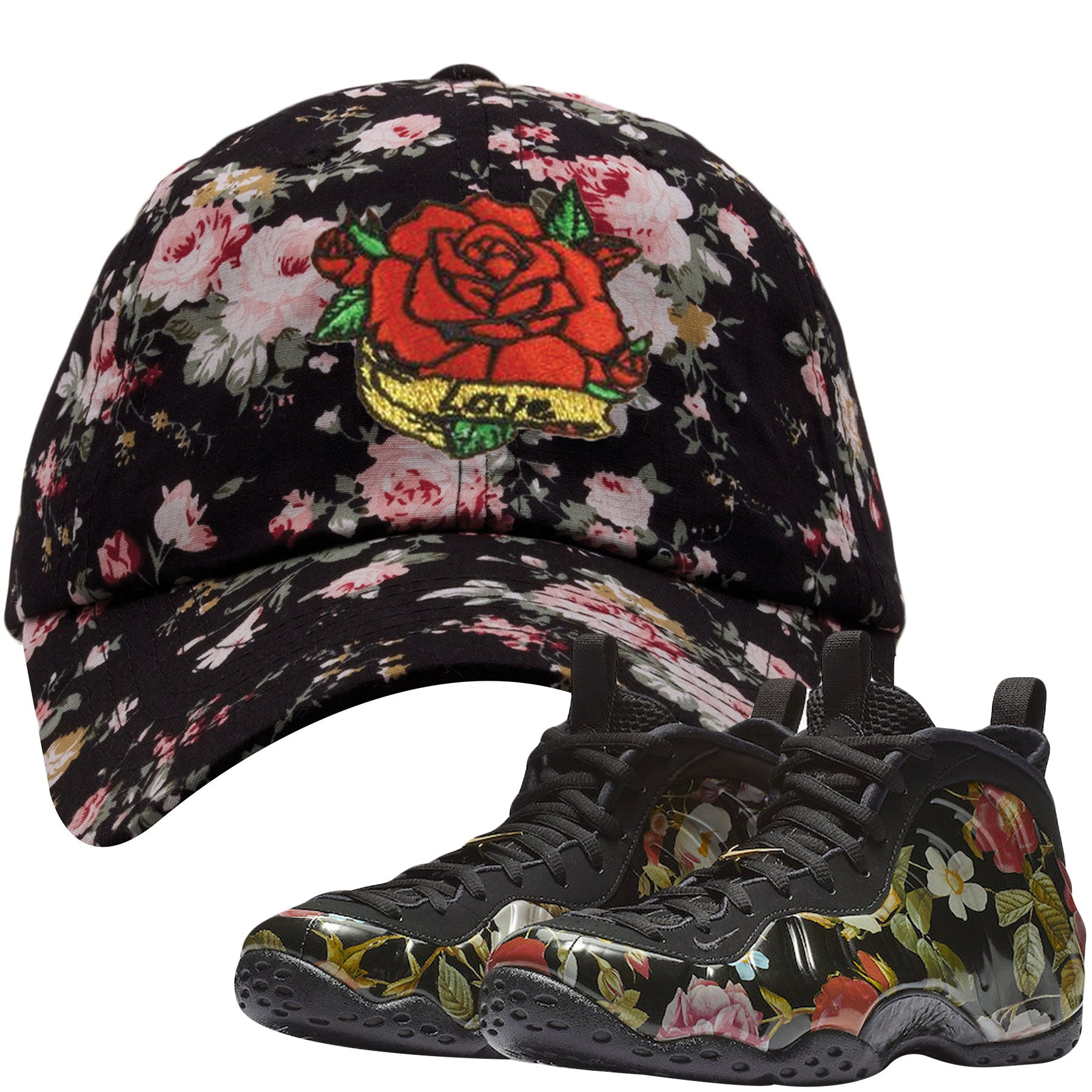 fb15e05db19 Wear this sneaker matching hat to match your Air Foamposite One Floral  sneakers. Match your