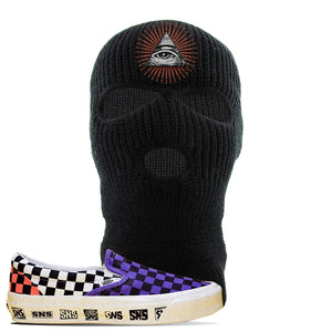 Vans Slip On Venice Beach Pack Ski Mask | Black, All Seeing Eye