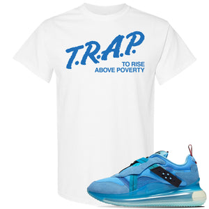 Air Max 720 OBJ Slip Light Blue T Shirt | White, Trap To Rise Above Poverty