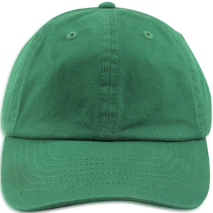 Blank Kelly Green Kids Adjustable Baseball Cap