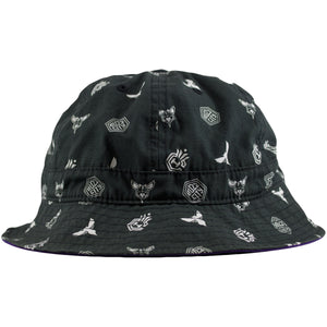 Charlotte Hornets All Over Print Mitchell and Ness Bucket Hat