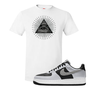 Air Force 1 3M Snake T Shirt | All Seeing Eye, White