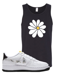 Air Force 1 Tank Top | Black, Daisy Flower
