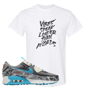 Air Max 90 Rice Ball T Shirt | Vibes Speak Louder Than Words, White