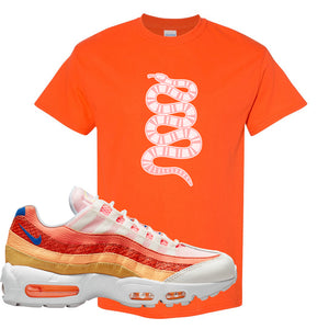 Air Max 95 Orange Snakeskin T Shirt | Coiled Snake, Orange