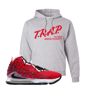 Lebron 17 Uptempo Hoodie | Ash, Trap To Rise Above Poverty
