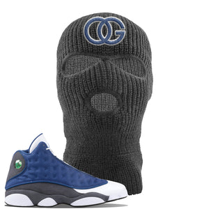 Jordan 13 Flint 2020 Sneaker Dark Gray Ski Mask | Winter Mask to match Nike Air Jordan 13 Flint 2020 Shoes | OG