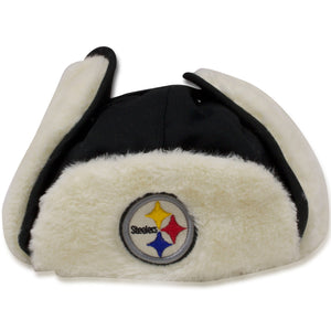 Steelers  Trapper hat | Pittsburgh steelers black ushanka trapper hat 47 brand