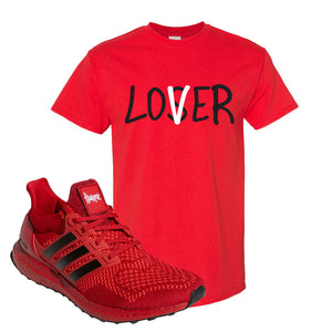 Ultra Boost 1.0 Nebraska T-Shirt | Lover, Red