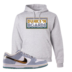 Sean Cliver x SB Dunk Low Hoodie | Dunks N Boards, Ash
