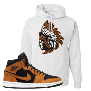Air Jordan 1 Mid Wheat Hoodie | Indian Chief, White