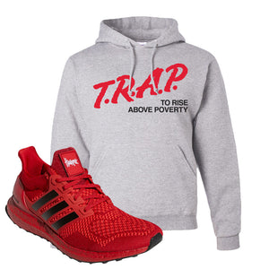 Ultra Boost 1.0 Nebraska Hoodie | Trap To Rise Above Poverty, Ash