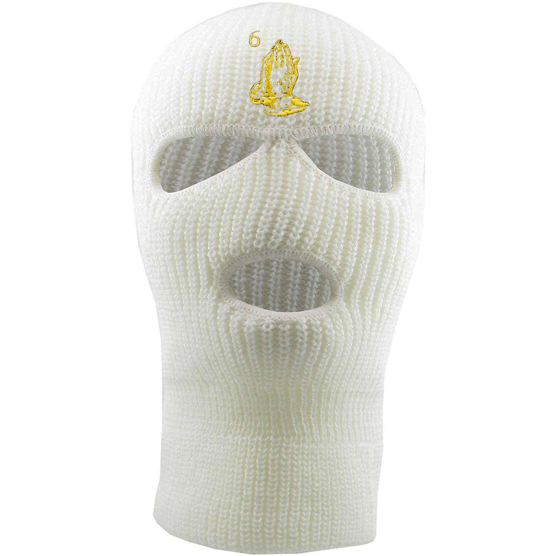 e6dba8d6c094e Embroidered on the forehead of the white OVO drake ski mask is the 6 god  logo