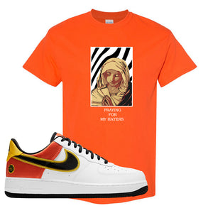 Air Force 1 Low Roswell Rayguns T Shirt | God Told Me, Orange