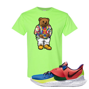 Kyrie Low 3 NY vs NY T Shirt | Sweater Bear, Neon Green