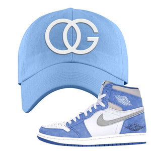 Air Jordan 1 High Hyper Royal Dad Hat | OG, Sky Blue