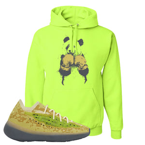 Yeezy Boost 380 Hylte Glow Hoodie | Boxing Panda, Safety Green